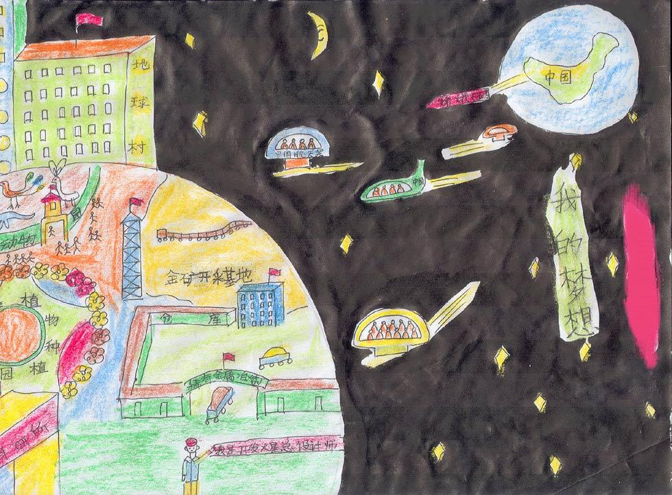 简单儿童画作品欣赏内容图片展示_简单儿童画作品